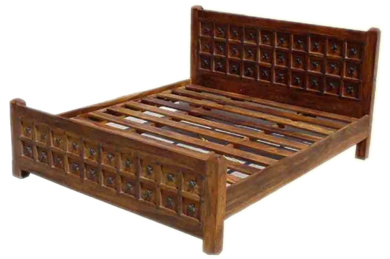 Solid Wood Bed The Stylish Java Low Chunky Bed Is Perfect