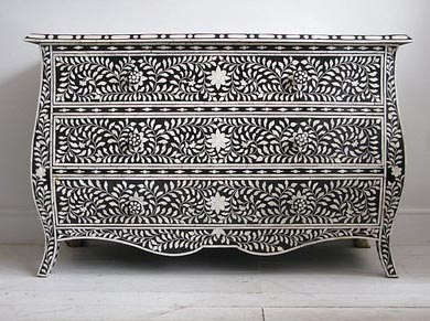 Beautiful Bone Furniture Which Have Carved Panel. Mother Of Pearl Inlay Exporters  Jodhpur