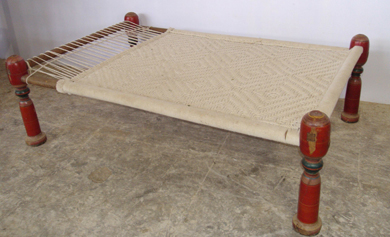 Jute Leather Handicrafts India Charpoy