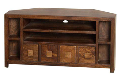 Sheesham tv cabinet india tv unit jodhpur traditional lcd - Corner tables for living room online india ...