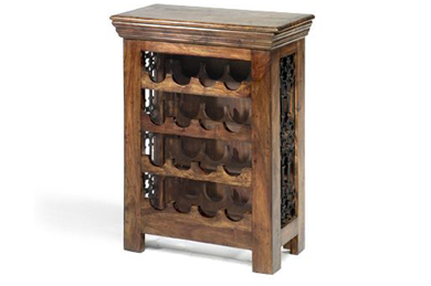Wooden Bar Cabinet From India Wine Rack